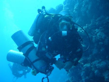 nico le gone -130m deep dive blue hole dahab