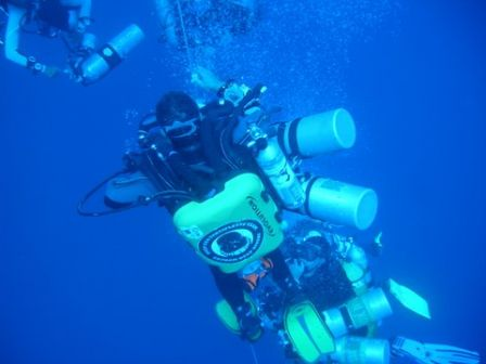 Extreme deep dive 200 m in Dahab