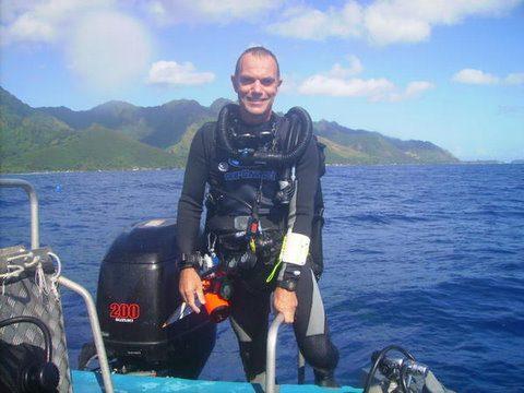 Plongée tech à Tahiti.