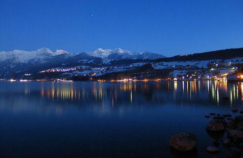 Plongée à Thun : le soir sous la neige