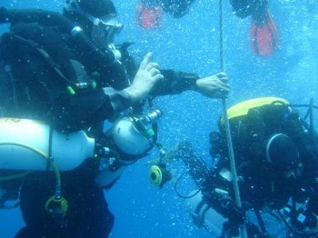 Pervers pepere aux palier sur l'épave du Haven à Arenzano