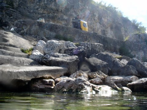 Magnifique plongée à pierre à Bise lac du Bourget