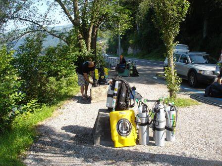 Plongée 134m à Thun au Baentenbucht en Suisse samedi 4 Juillet