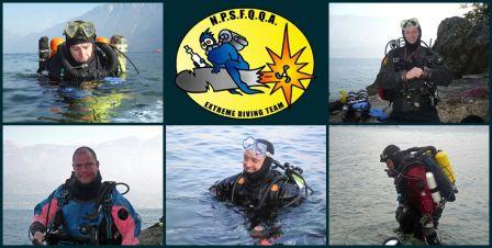 Bernard plonge à 200 mètres en recycleur au lac de Garde en Italie