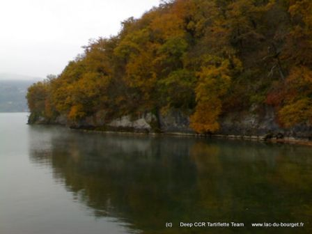 Site de plongée du tombant de Châtillon à Chindrieux au lac du Bourget
