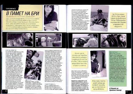 L'article sur Brigitte Lenoir dans Diving BG