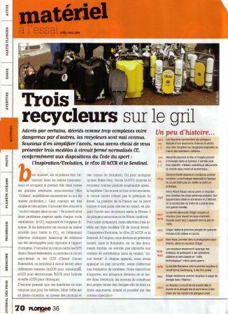 Article du magazine de plongée plongée Mag sur les recycleurs homologués CE