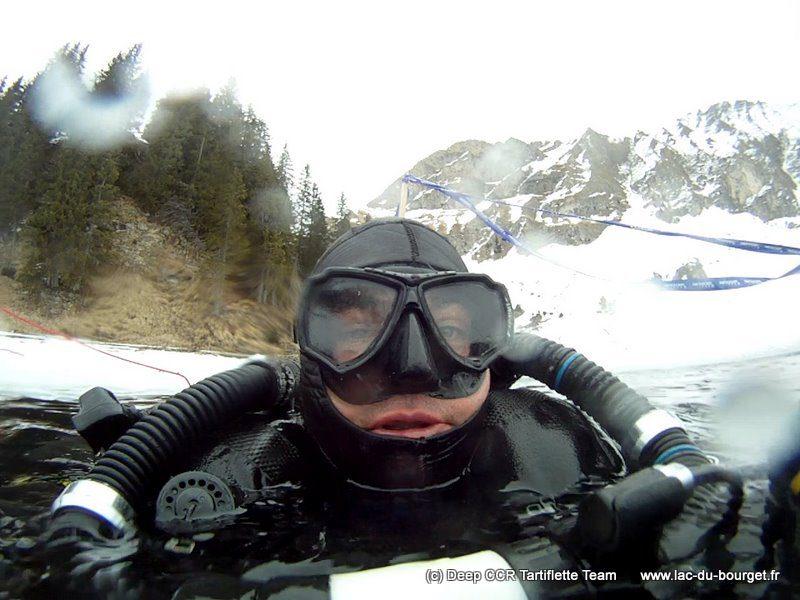 Plongée sous glace au lac Lioson