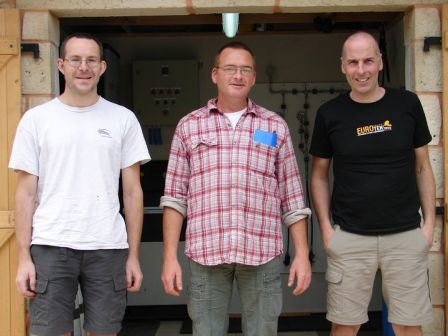 Rick Stanton & John Volanthen décontractés avant leur exploit 6.3 km au Ressel dans le Lot