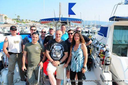 L'équipe des plongées profondes sur les épaves du Protée et du Natal