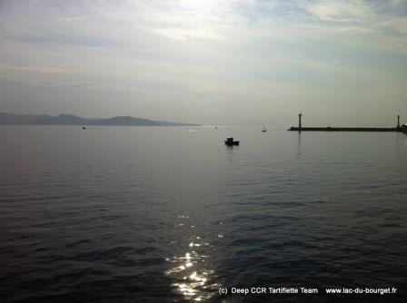 Mer Méditérranée pétole pour cette plongée sur l'épave du Bananier à La Ciotat