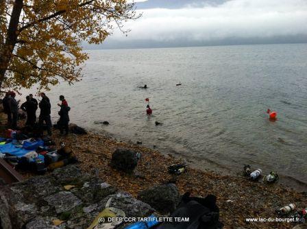 Plongée sur les Ombles Chevaliers à Challière au lac du Bourget