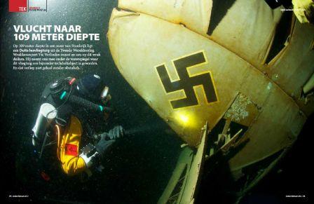 La première page de l'article de Vic Verlinden, sur sa plongée sur l'avion FW58