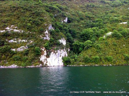Le site de plongée du Chemin du Curé au lac du Bourget