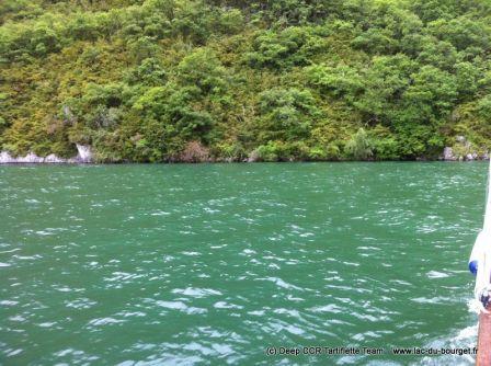 Plongée petite faille recycleur lac du Bourget