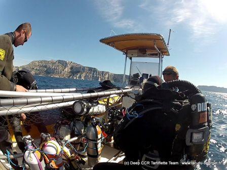 Grand beau temps sur Marseille pour ce week end de plongée sur les épaves du Ghrib et du Labillon