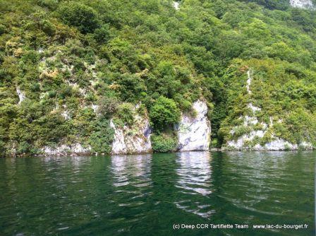 Site de plongée la Grotte au lac du Bourget