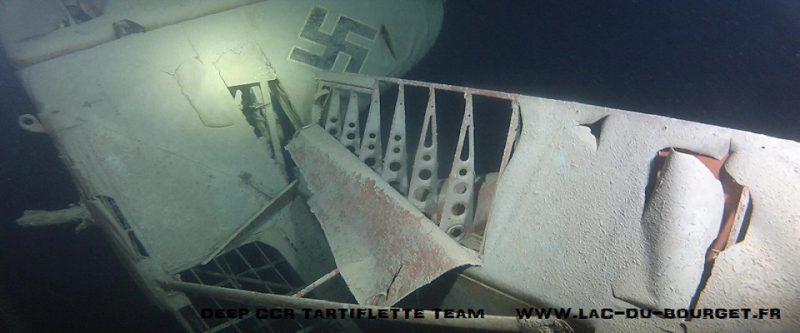 Il faut préserver l'épave du FW58 au fond du lac du Bourget