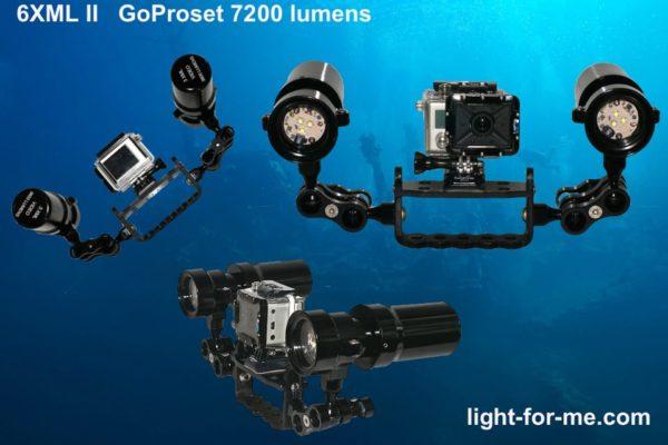 Phare de plongee Video 3XML Light For Me Deep CCR Tartiflette team