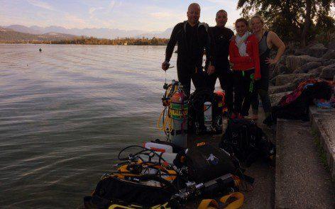 Baptême de plongée au lac du Bourget
