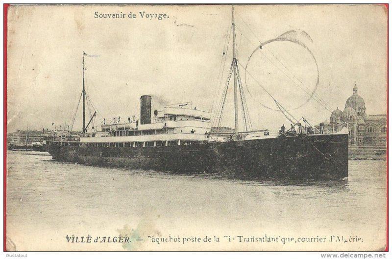 Paquebot Kléber ex Ville d'Alger